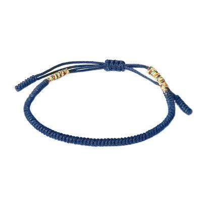 Buddhist bracelet blue