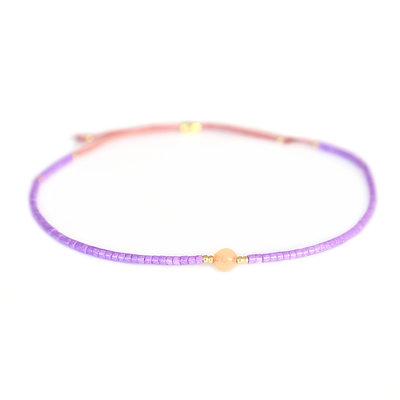 Miyuki bracelet purple