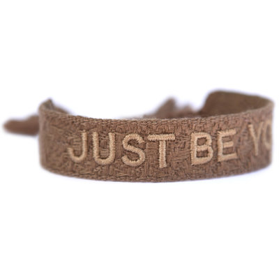 Woven bracelet just be you taupe
