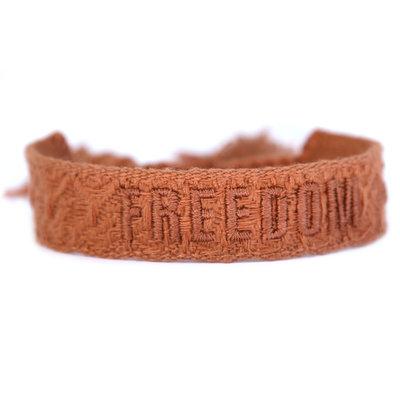 Woven bracelet freedom copper