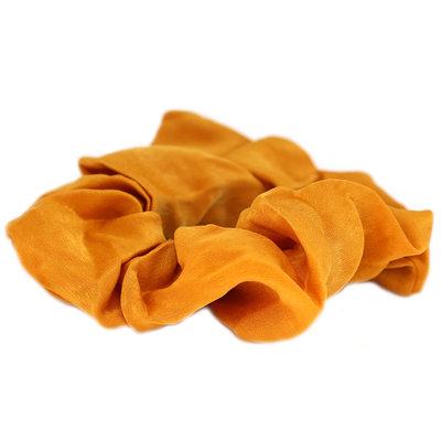 Scrunchie silk ocher