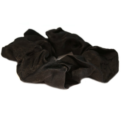 Scrunchie silk black