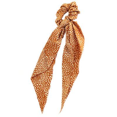 Scrunchie scarf ochre