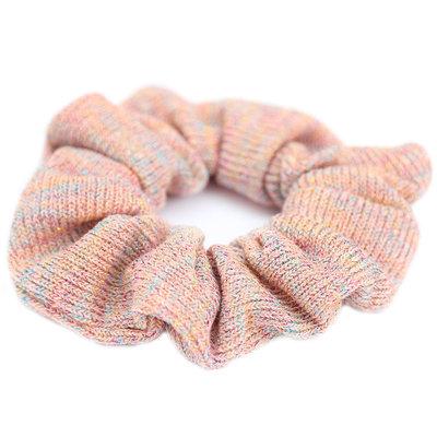 Scrunchie knitted rose glitter