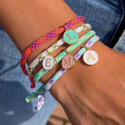 Initial bracelet - custom color choice