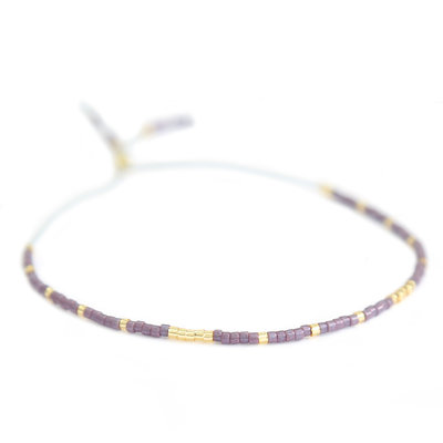 Miyuki bracelet lilac