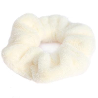 Scrunchie teddy cream