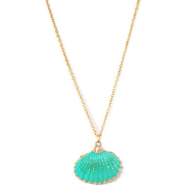 Necklace shell sea green