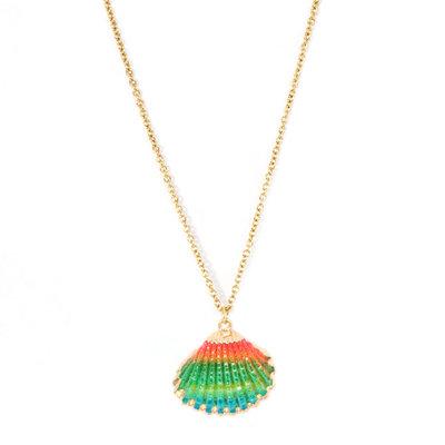 Necklace shell rainbow