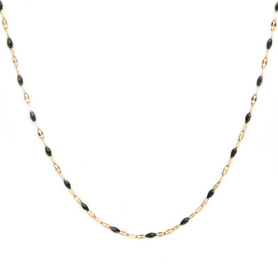 Necklace little chain black