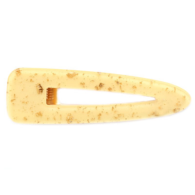 Statement hair clip yellow flakes