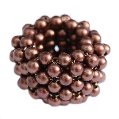 Hair elastic pearl bronze