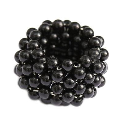 Hair elastic black pearl