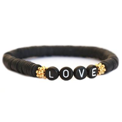 Winter bracelet LOVE black