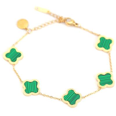 Bracelet lucky clover green