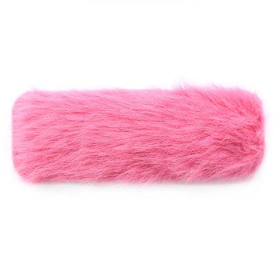 Hair clip fluffy pink