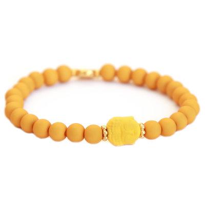 Bracelet buddha ocher