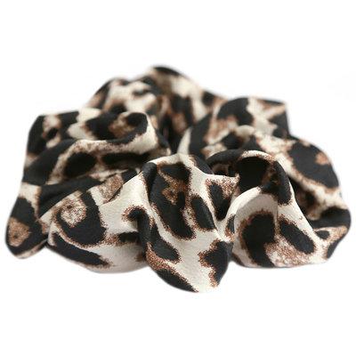 Scrunchie animal beige