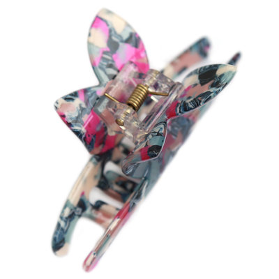 Hair claw butterfly blue pink