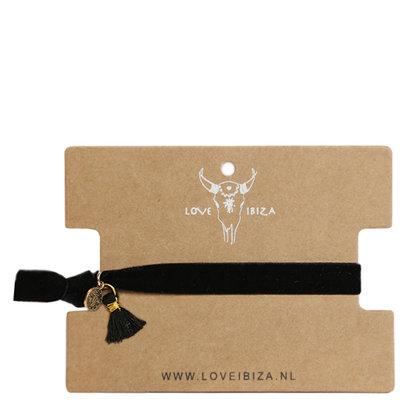 Velvet bracelet black