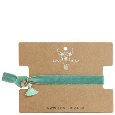 Velvet bracelet green