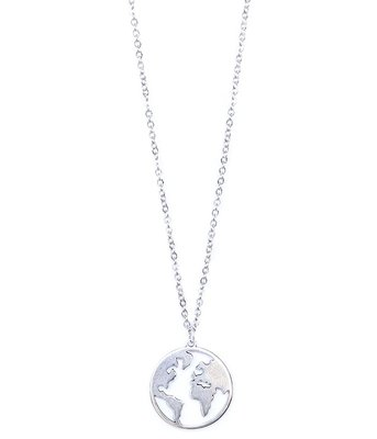 Necklace earth silver