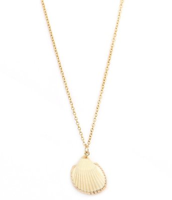 Necklace shell gold edges