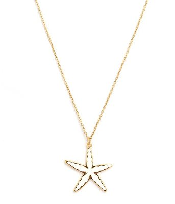 Necklace starfish gold