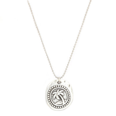 Necklace palm silver