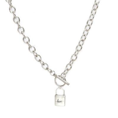 Necklace chain lock silver