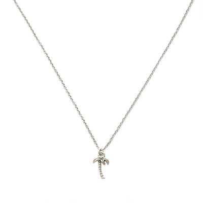 Necklace palm tree silver