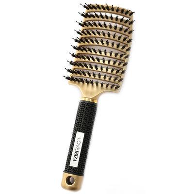 Anti-tangle hairbrush gold
