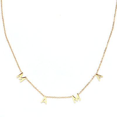 Necklace MAMA gold