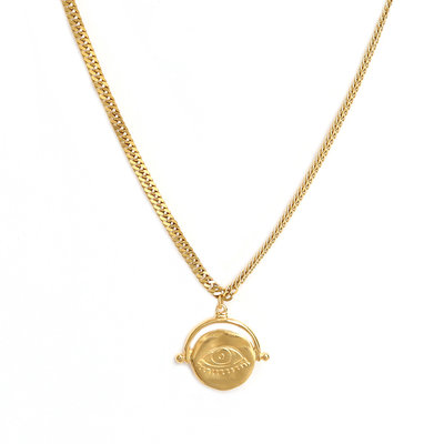 Necklace eye on you gold