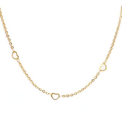 Necklace little heart gold