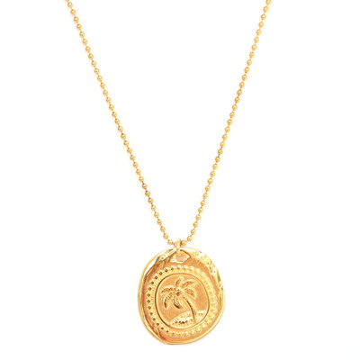 Necklace palm gold