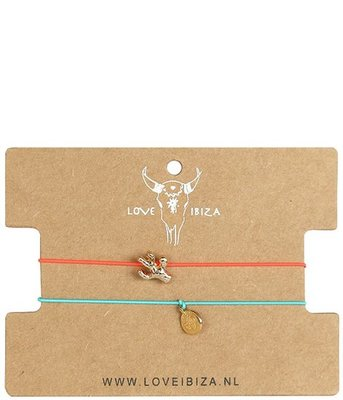 Anklets set cactus/coin gold