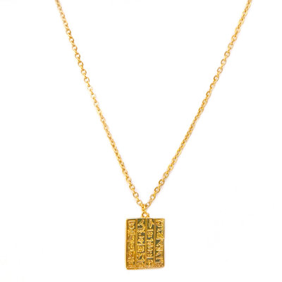 Necklace secret script gold