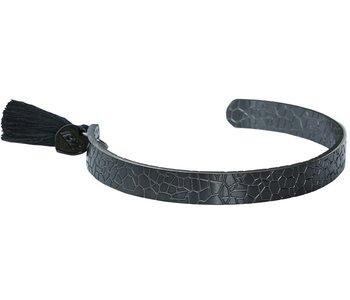 Snake bracelet black